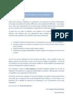 Test Esprit d'analyse ou de synthèse - document en français