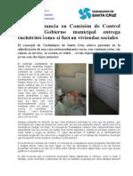 Guigou Denuncia en Comisión de Control Que El Gobierno Municipal Entrega Cuchitriles Como Si Fueran Viviendas Sociales (Con Fotos)