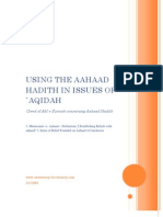 Using The Aahaad Hadith In Issues Of `Aqidah