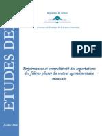 Note Performance Et Compétitivité Des Filières Phares de l'Agroalimentaire - DEPF, Juillet 2014