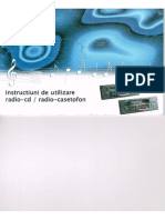 Dacia Logan Mk1 Radio Casette CD User Manual (Ro)