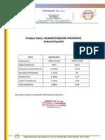 Fosforan monopotasowy - Monopotassium phosphate (potassium dihydrogen phosphate) - Chemiglob.com