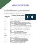 Academic Word List (IELTS & TOEFL)
