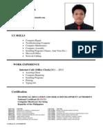 Josue Arzadon Resume