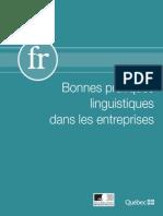 Bonnes pratiques linguistiques dans les entreprises