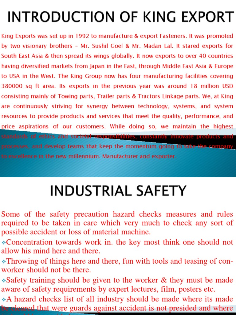 Industrial Safety | Machining | Tractor