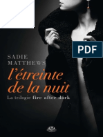 Fire After Dark t1 l 39 Etreinte de La Nu Sadie Ma