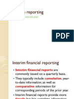 Interim financial statements
