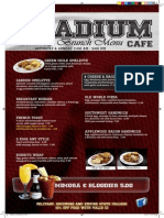 Stadium Brunch Menu