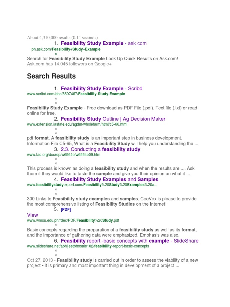 Feasibility feasibility study text file friedricerecipe Image collections