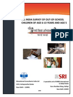 ALL INDIA SURVEY OF OUT-OF-SCHOOL CHILDREN OF AGE 6-13 YEARS AND AGE 5 India