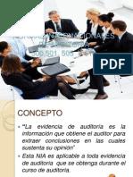 Evidencia de Auditoria 500, 501, 505 y 510