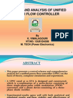 Control and Analysis of Unified Power Flow Controller
