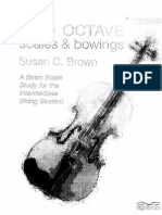 Brown - Two Octaves Scales and Bowing 1/8