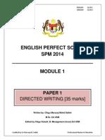 Modul Perfect Score – Spm 2014 English