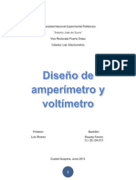 Diseño de Amperimetro y Voltimetro a Partir de Un Galbanometro D'Arsonval