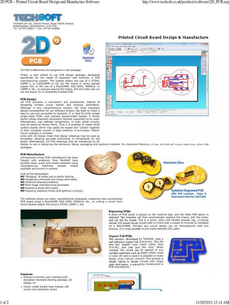 2D PCB ~ Printed Circuit Board Design and Manufacture Software ...