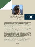 On Literary Sluthood
