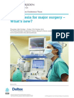 RMH Anaesthesia for Major Surgery 2014 Flyer
