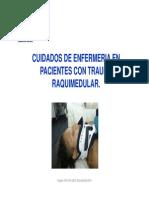 Clase n° 5 CUIDADOS DE ENFERMERIA EN PACIENTES CON TRAUMA RAQUIMEDULAR