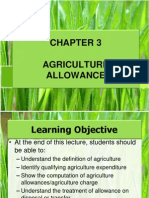Chapter 3 Agriculture Allowance Studnt