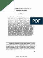 Aziz Z. Huq, Structural Constitutionalism as Counterterrorism