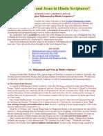 Muhammad and Jesus in Hindu Scriptures