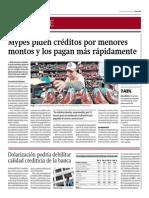 Mypes Piden Créditos Por Menores Montos y Los Pagan Rápido_Gestión 10-07-2014