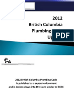 2012 Plumbing Code Update