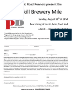 Peekskill Brewery Mile 2014 Paper Application