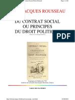 Rousseau Contrat Fr