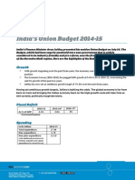 India's Union Budget 2014-15