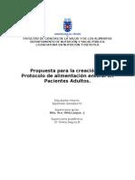 Sugerencia a la Creacion de Protocolos de Alimentacion enteral