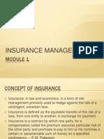 Insurance Mgmt - MODULE 1