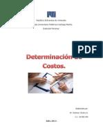Determinación de Costos.