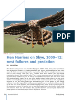 Hen Harriers; nest failures & predation on Skye. From Scottish Birds magazine Feb 14