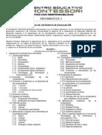 Hoja de Criterios de Informatica 1 Bloque 1