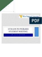 15 ways to publish student writing