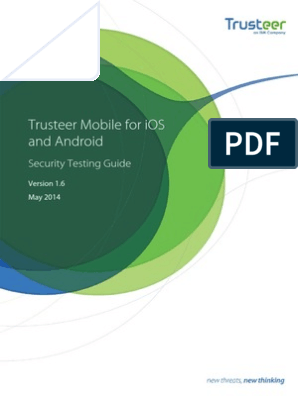 Trusteer Mobile for IOS and Android Security Testing Guide