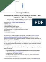 Arau Dialect of Tairora Bible Papua New Guinea