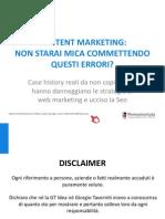 Errori del Content Marketing