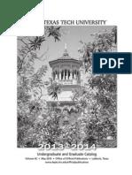 2013-14 Course details Texas Tech University.