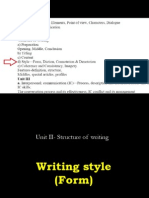 Structure of Writing