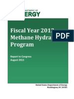 FY12 Methane Hydrate Report to Congress