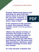Refuting Claims Regarding the Prophet