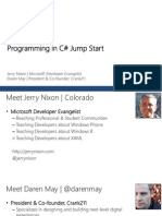 C# Jumpstart Module 1 Intro