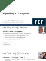 C# Jumpstart Module 1 Intro