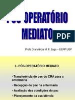 Pós Op. Mediato - Complicações