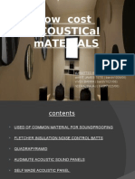 Low Cost Acoustic Materials