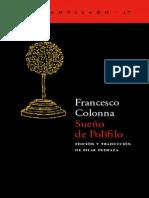 Colonna Francesco Sueño de Polifilo